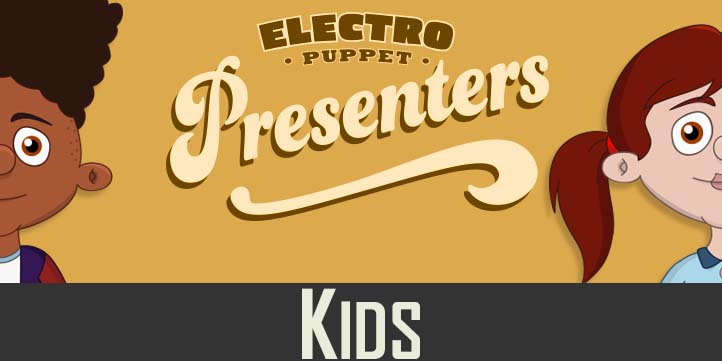 Kid Puppet Presenters for Adobe Character Animator
