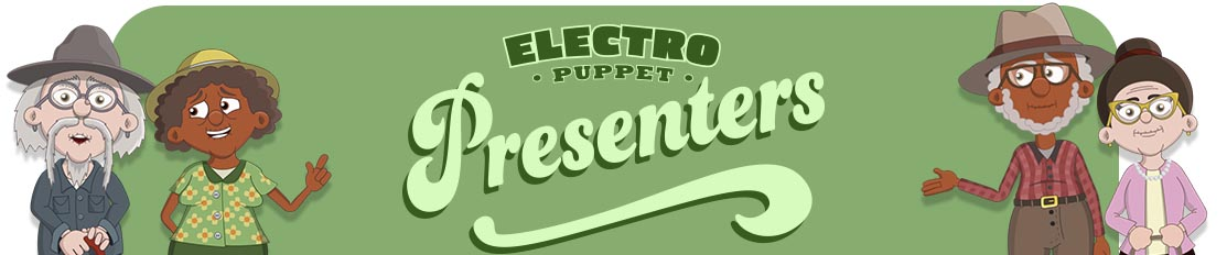 Elderly Puppet Presenters for Adobe Character Animator