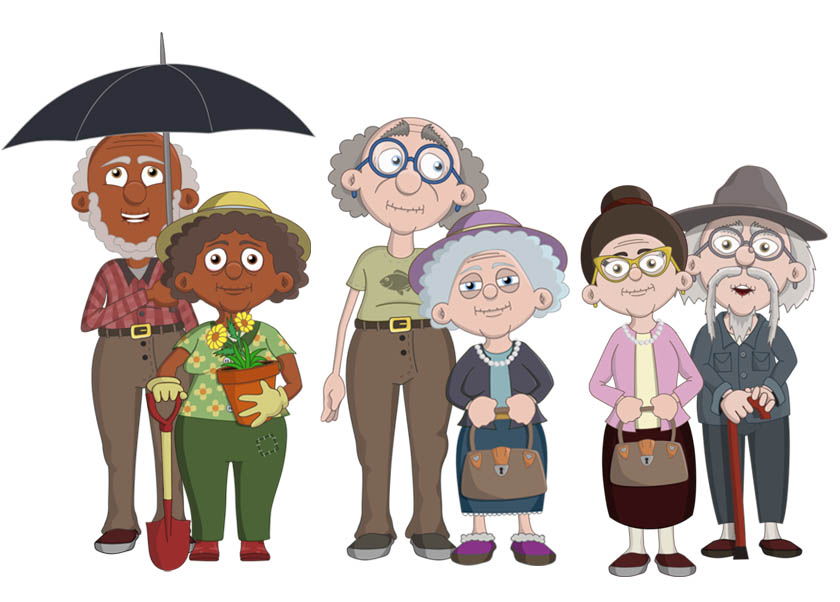 Adobe Character Animator Oldies puppets