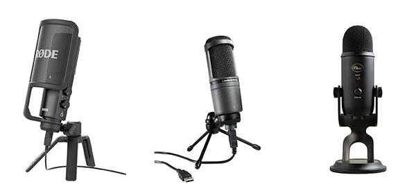 Microphones to record your audio