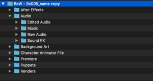 Adobe Character Animator File Structure