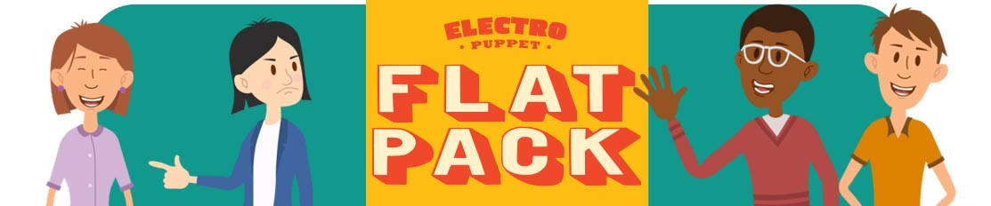 Flat Pack Puppets for Adobe Character Animator