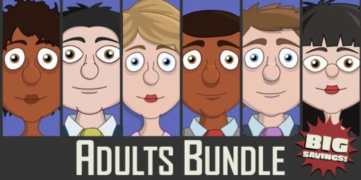 Adobe Character Animator Adults Puppet Bundle