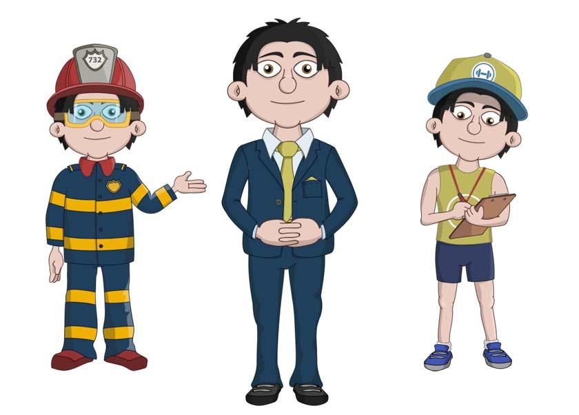 Ken - An adult male asian businessman puppet