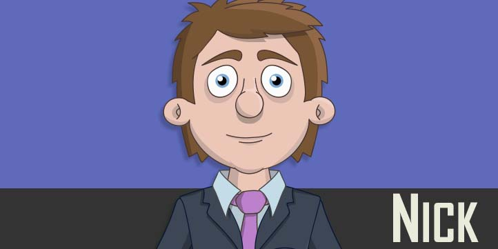 Nick - A white adult male businessman puppet
