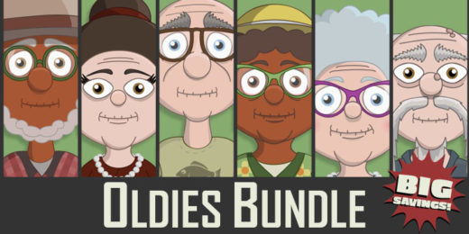 Adobe Character Animator Oldies Puppet Bundle
