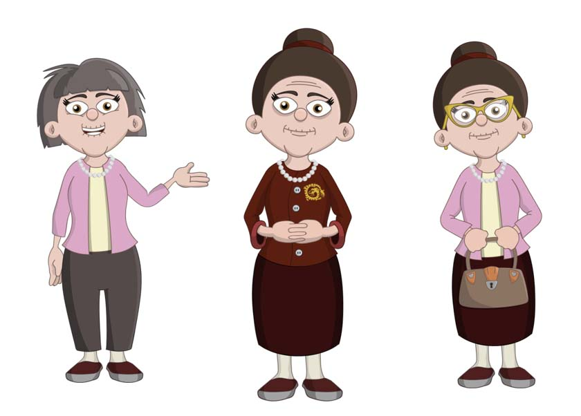 Sue - an elderly asian female puppet