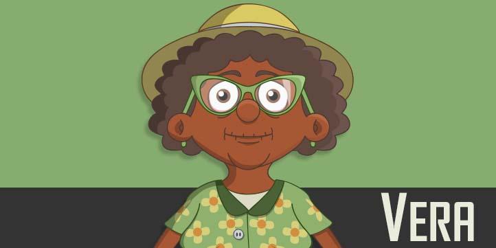 Vera - an elderly black woman puppet