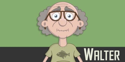 Walter - a white elderly male puppet