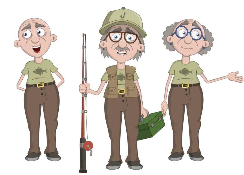 Walter - an elderly white male puppet