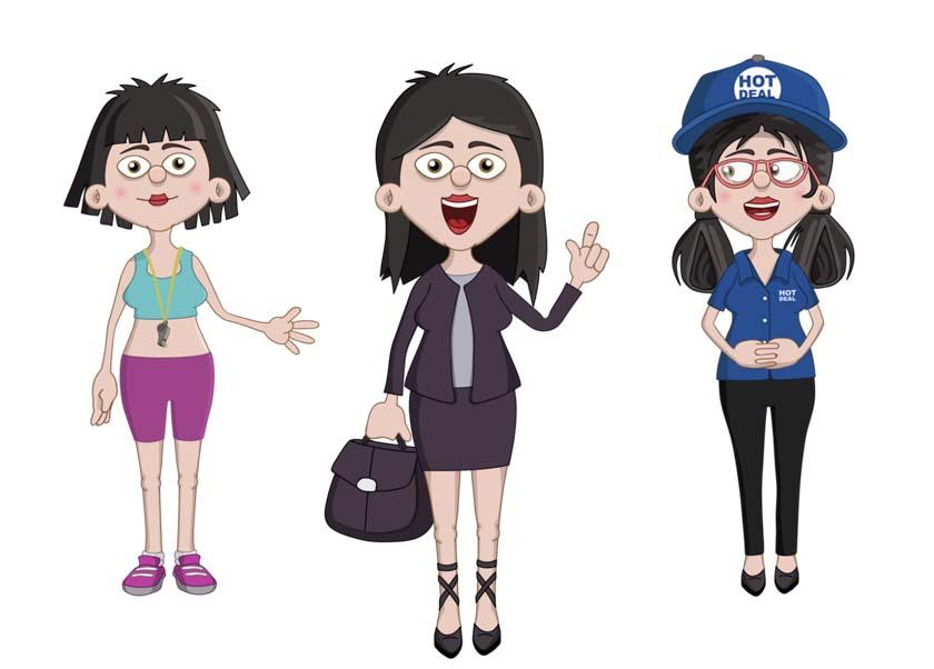Xuan - an adult female asian businesswoman puppet