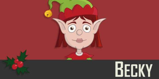 Becky - a Christmas Elf puppet
