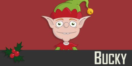 Bucky - a Christmas Elf puppet