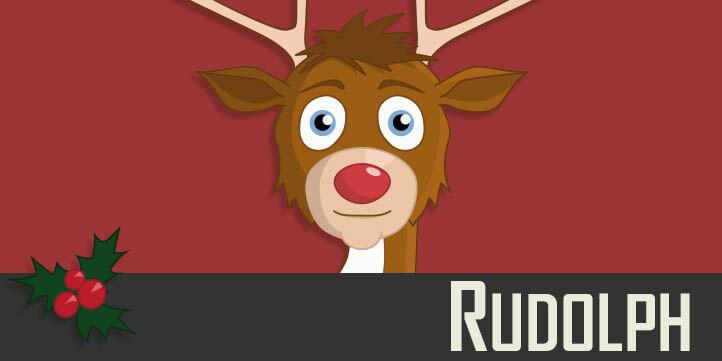 Rudolph - a Christmas reindeer puppet