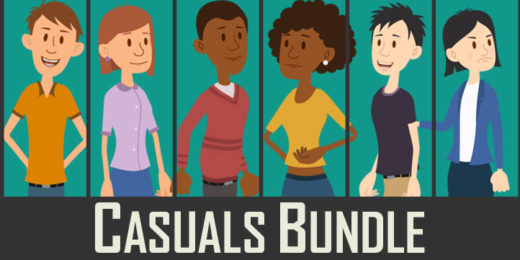 Casuals Bundle - Puppets for Adobe Character Animator