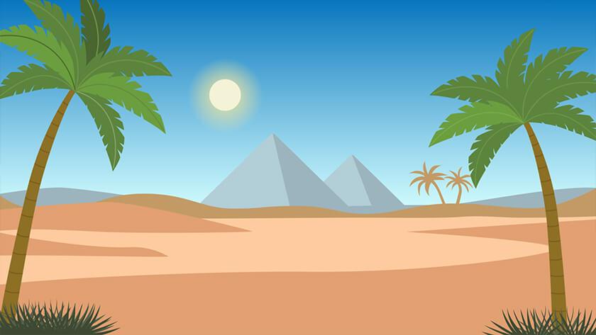 Nativity #2 Background Desert