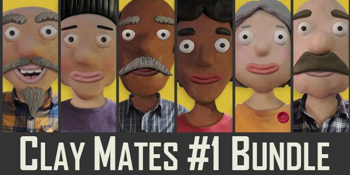 Adobe Character Animator Clay Mates #1 Puppet Bundle