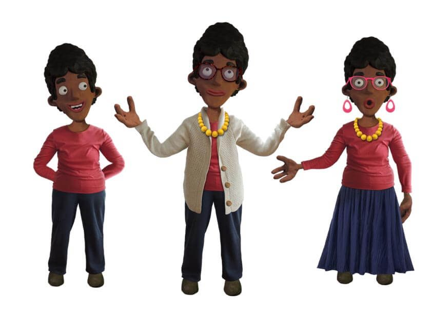 Aliyah puppet available for Adobe Character Animator
