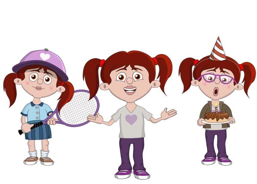 Emma - a white female child puppet