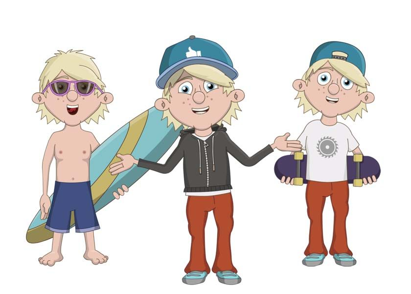 Ian - a teen male white puppet