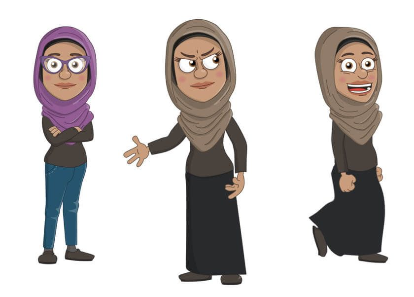 Maryam - Puppet for Adobe Character Animator