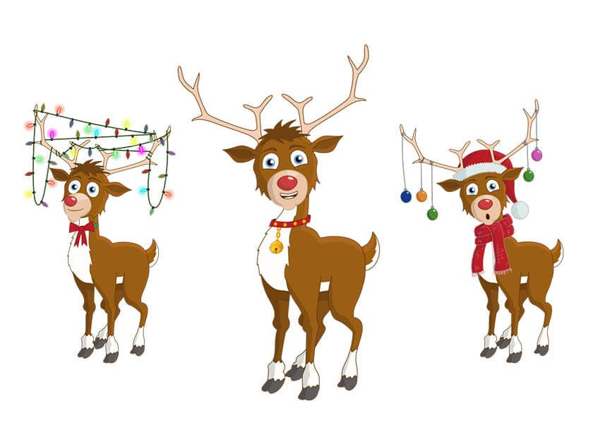 Rudolph - Christmas reindeer Adobe Character Animator puppet