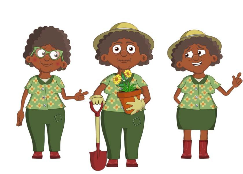 Vera an elderly black female puppet